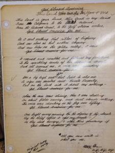 """Original lyrics to """"This Land is Your Land""""."""