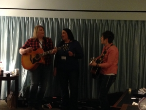The Secrets from New Foundland.  These ladies shook the timbers with their vocals.