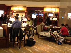 The Lobby was continually full of music - 24 hours.